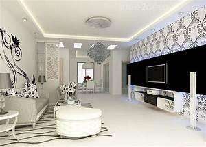 Deco Noir Et Blanc : deco salon design noir et blanc ~ Melissatoandfro.com Idées de Décoration