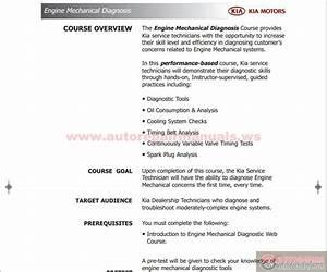 Kia Course Guide Engine Mechanical Diagnosis