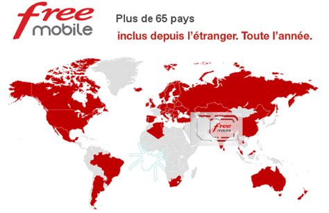 Free Mobile by Free Mobile Destinations Liste Pays Et Cartes Roaming Inclus