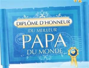 Meilleur Oreiller Du Monde : diplome d 39 honneur du meilleur papa du monde blog de ~ Melissatoandfro.com Idées de Décoration