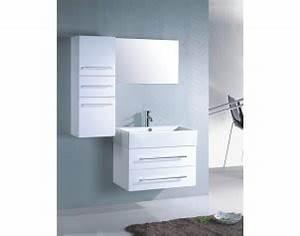Meuble Haut Blanc Laqué : photo meuble haut salle de bain blanc laque ~ Teatrodelosmanantiales.com Idées de Décoration