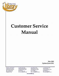 customer service policy manual un11 With customer service manual template