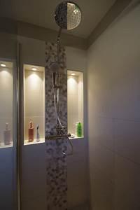 Niche De Douche : salle de bain melun niche dans la douche avec spots led ~ Premium-room.com Idées de Décoration