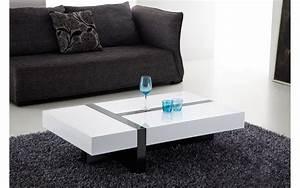 Table Salon Blanche : comment choisir entre une table basse rectangulaire et une table basse ronde ze news ~ Teatrodelosmanantiales.com Idées de Décoration