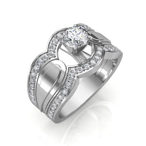 0 85 carat 18k white gold utopia engagement ring