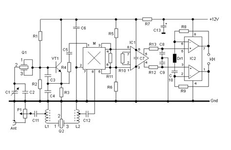 wiring schematic diagram   band direct conversion receiver