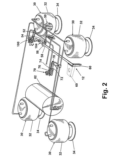 Patent US6679509 - Trailing arm suspension with anti-creep