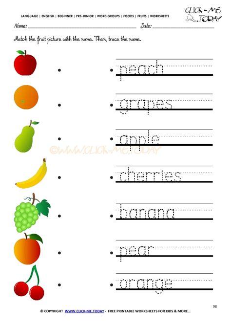 fruits worksheet 98 trace fruits worksheet