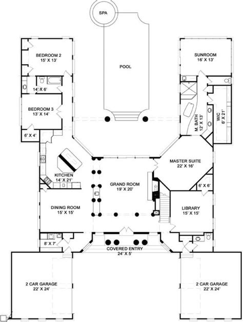 shaped house plans ideas  pinterest