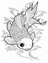 Coloring Fish Goldfish Koi Deviantart Koyasan Monster Drawings Colorir Peixe Kaynak Doodle Animal Youngandtae Sparad Fran Steampunk Salvo sketch template