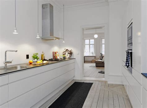 galley kitchen without upper cabinets scandinavisch wonen i love my interior