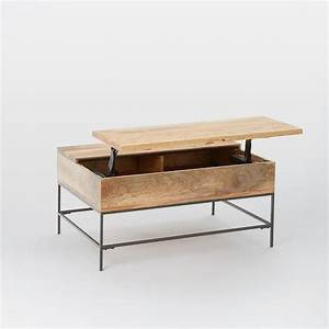 Industrial storage pop up coffee table west elm for West elm industrial storage coffee table