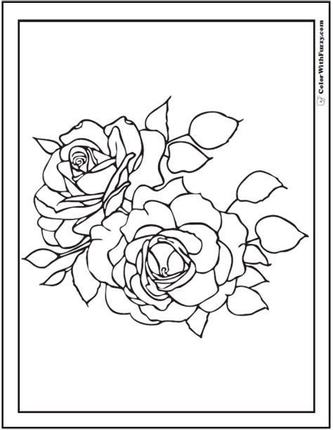 100% free flowers coloring pages. 73+ Rose Coloring Pages: Customize PDF Printables