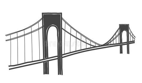 Verazzano-Narrows Bridge Drawing Stock Illustration ...