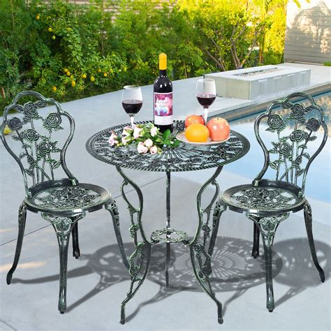 patio furniture cast aluminum design bistro set
