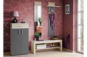 meuble d39entree rangement vestiaire miroir banc With porte d entrée pvc avec ensemble meuble vasque miroir salle de bain