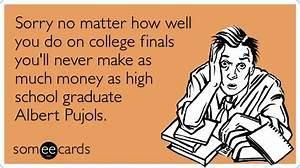 Albert Pujols College Exam Finals Funny Ecard   College Ecard