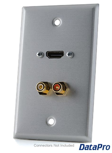 hdmi  stereo rca audio wall plate datapro
