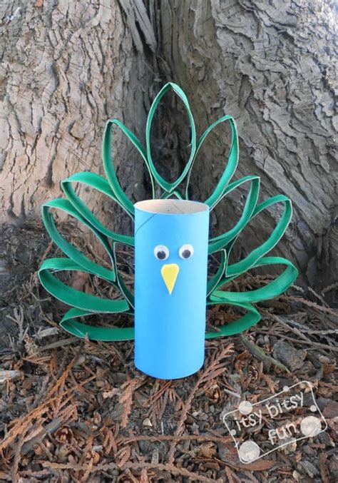 colorful treat  peacock themed crafts  kids