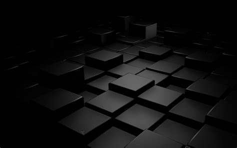 Abstract Black by Abstract Black Blocks Cubes Digital Wallpapers