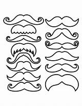Mustache Outline Clipart Moustache Template Mustaches Coloring Pages Photobooth Cupcake Pdf Printable Cliparts Prop Props Templates Drawing Types Party Clip sketch template