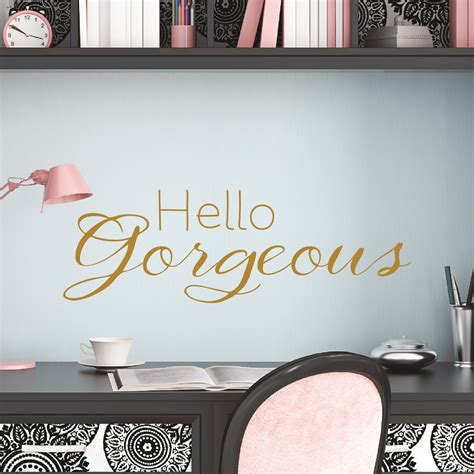 hello gorgeous wall quotes decal wallquotes