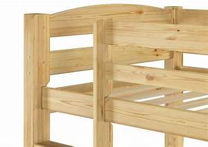 Hochbett Holz 90x200 : etagenbett kiefer massivholz stockbett 90x200 hochbett rollroste bettkasten s1 ~ Frokenaadalensverden.com Haus und Dekorationen