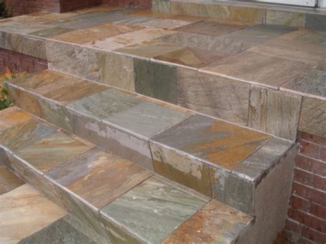 how to tile concrete steps gardening great
