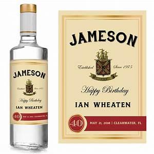 jameson birthday liquor label icustomlabel With jameson whiskey label template