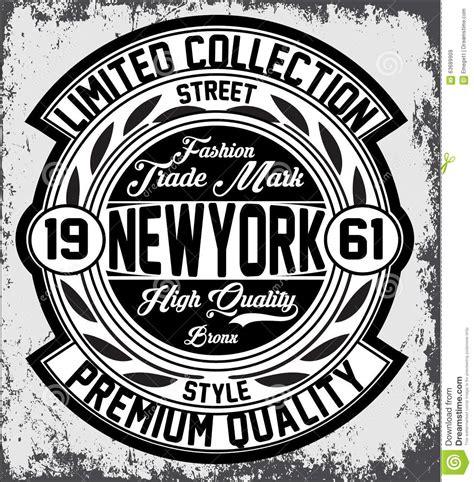 vintage new york typography t shirt graphics vectors stock vector image 63689909