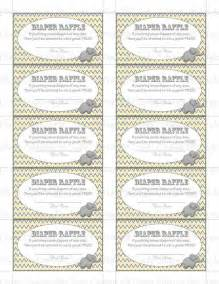 Free Printable Baby Diaper Raffle Tickets