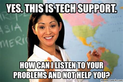It Support Meme - tech support