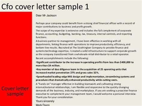 Cfo Resume Cover Letter by Cfo Cover Letter