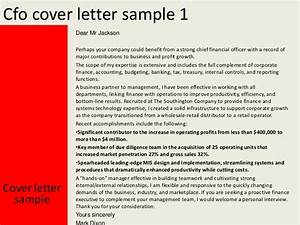 cfo cover letter With cover letter for cfo position