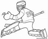Hockey Coloring Pages Goalie Printable Nhl Player Team Sports Print Logos Players Colouring Sheets Rangers Canadian Oilers Clipart Uniform Template sketch template