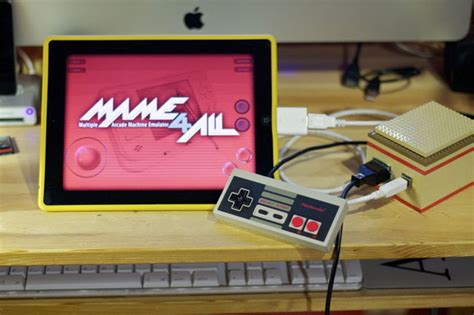 nes controller hacked  play icade ipad games