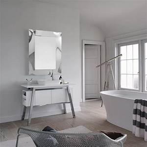 miroir salle de bain 90x69 cm emilie argent With miroir salle de bain 90 cm