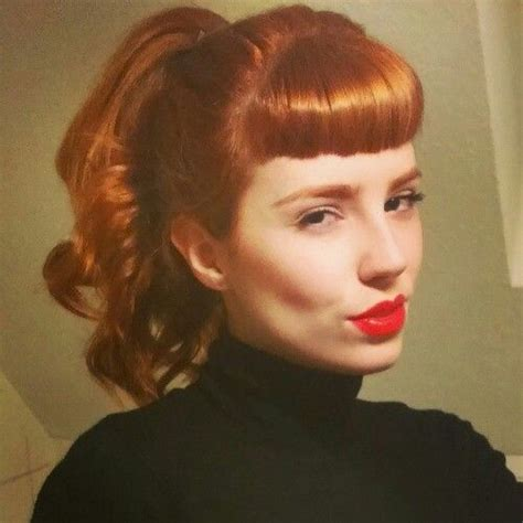 1950s Hairstyles With Bangs by 25 Best Ideas About Vintage Bangs On 1950s