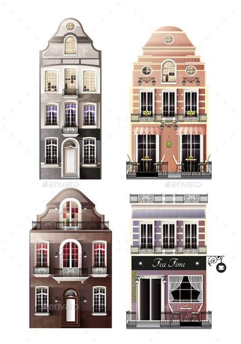 Variations Of Old European Facade Houses in 2020 Facade