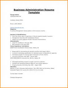 Business Resume Template 9 Business Administration Resume Bid Template