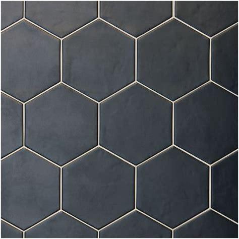 black hexagon floor tile 16 best rustic look tiles mosaics images on pinterest pennies tiles and backsplash