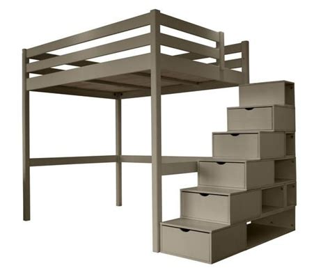 mezzanine sylvia avec escalier cube lit mezzanine pin