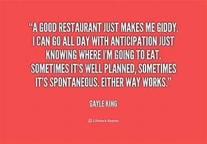 Quotes About Restaurants QuotesGram