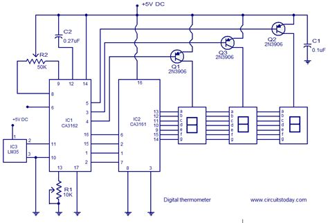Digital Thermometer Circuit Based