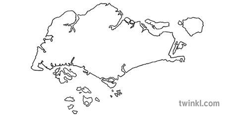 singapūras valsts kartes kontūras karšu kontūras ks1 ...