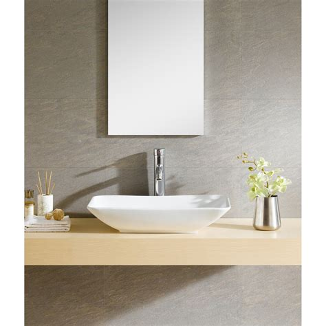 fine fixtures modern vitreous rectangular vessel bathroom