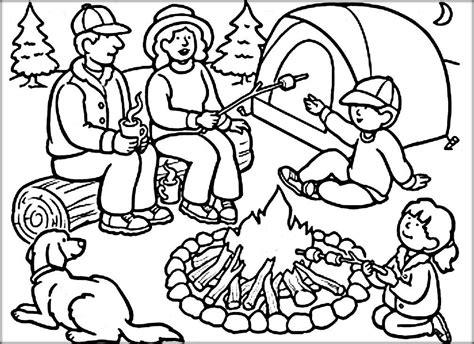 camping coloring pages color zini summer activities 673 | 40ed6b66e1a20096fbda821f9418ddb8