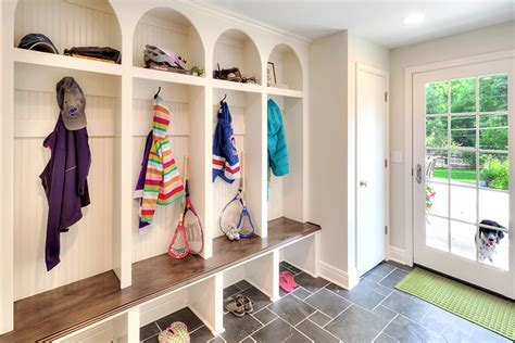 Porch Utility Room by Get The Look Porch Turned Mudroom