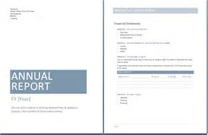Free Non Profit Annual Report Template by Annual Report Template Word Documents