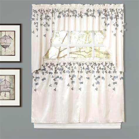 lush decor flower rod pocket swag kitchen 39 quot curtain